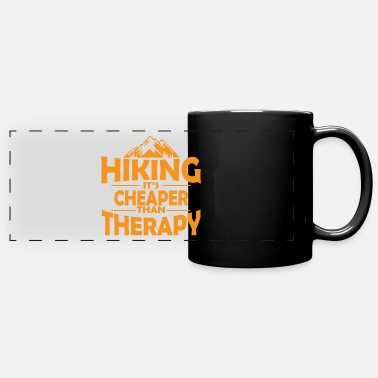 Picnic Hiking therapy mountains saying gift - Panoramic Mug