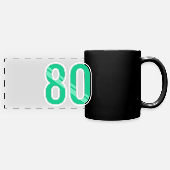 80s Mugs & Drinkware - 80 - Panoramic Mug black