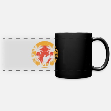 Trees Summer sea sun beach vacation water beach palm tree - Panoramic Mug