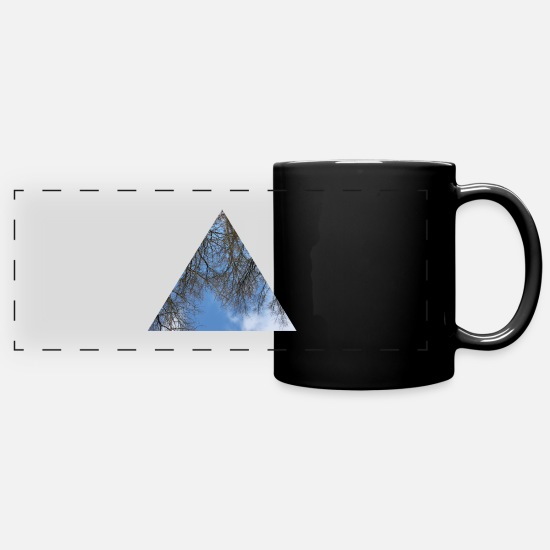 Nature Mugs & Drinkware - sky view - Panoramic Mug black