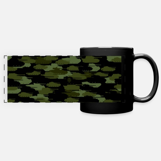 World Of Tanks Mugs & Drinkware - World of Tanks - Tank Camouflage Mug - Panoramic Mug black