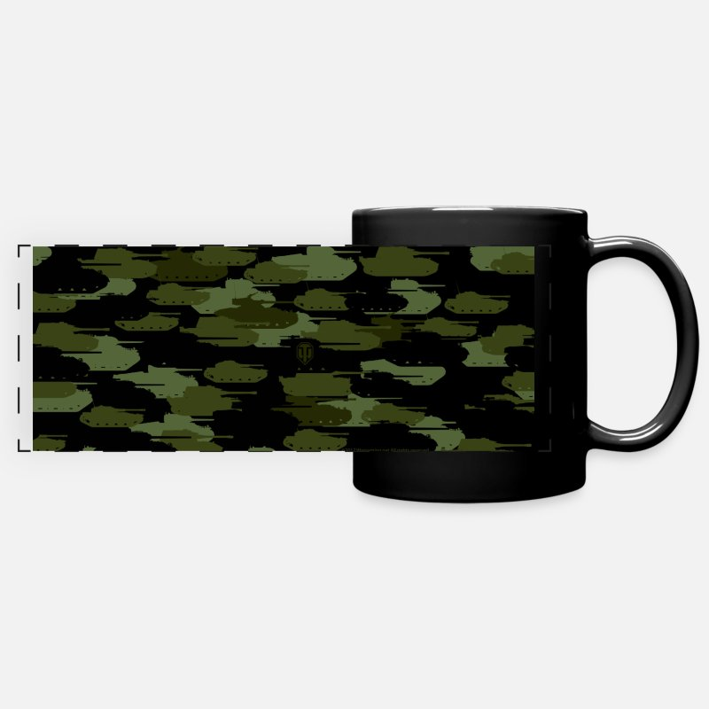 World Of Tanks Mukit ja tarvikkeet - World of Tanks Tank Camouflage Mug - Panoraamamuki musta
