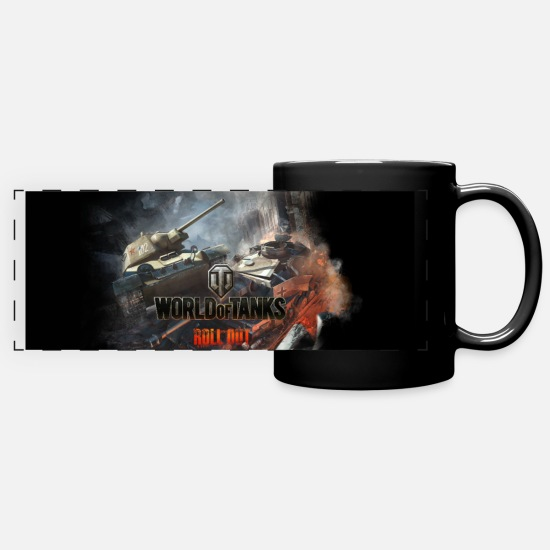 Wot16 Mugs & Drinkware - World of Tanks - Battlefield Panorama - Panoramic Mug black