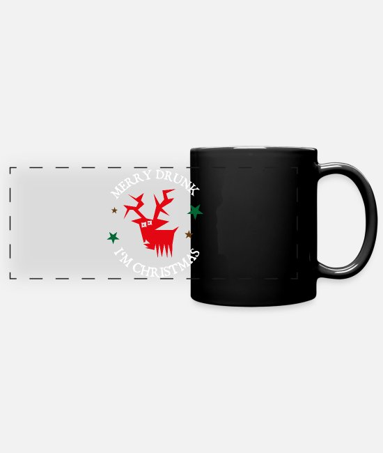 Christmas Mugs & Drinkware - Celebrating Christmas gift drunk beer funny - Panoramic Mug black