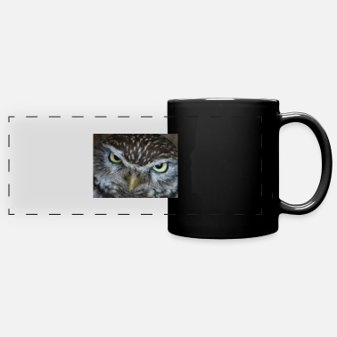 Face of an owl - Panoramic Mug