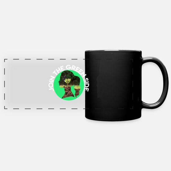Save The World Mugs & Drinkware - JOIN THE GREEN SIDE - Panoramic Mug black