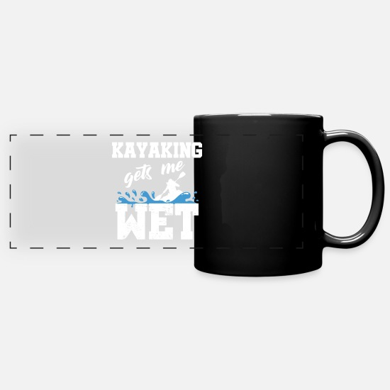 Kayaking Mugs & Drinkware - Paddle kayaking - Panoramic Mug black