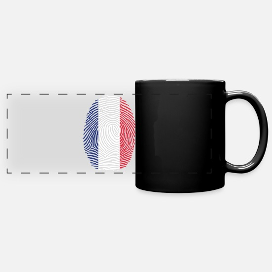 French Flag Mugs & Drinkware - France flag - Panoramic Mug black