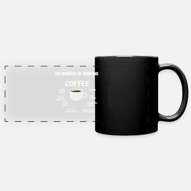 The benefits of drinking coffee - Panoramic Mug