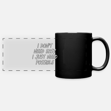 Mindset Make it possible inspirational shirt gift idea - Panoramic Mug