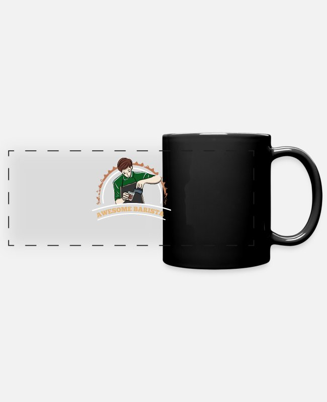 Barista Mugs & Drinkware - Awesome barista - barista - Panoramic Mug black