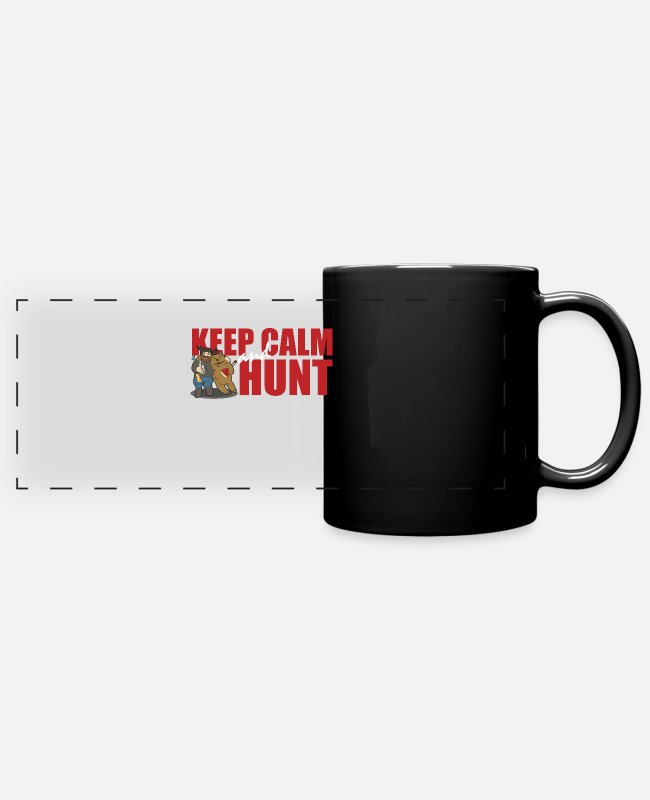Hunter Language Mugs & Drinkware - Keep Calm And Hunt - Bear Hunt - Panoramic Mug black