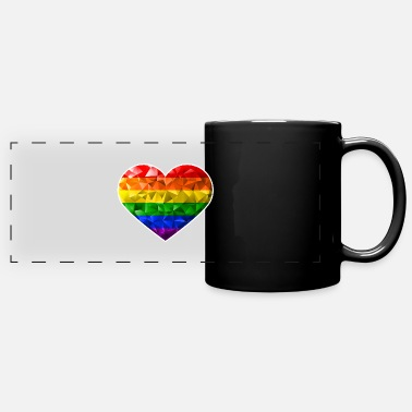Relationship Heart love gay lesbian pride marriage partnership - Panoramic Mug