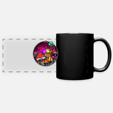Hallucinogen Psychedelic Magic Mushrooms Hallucinogenic Frog - Panoramic Mug