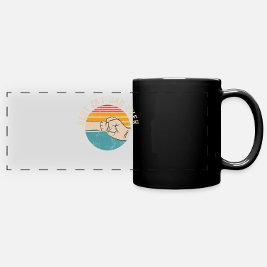 Fist Best Cat Dad Ever Cat Lover Ghetto Fist - Panoramic Mug