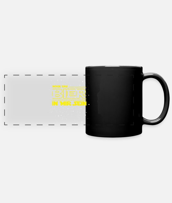 Starry Sky Mugs & Drinkware - May the beer in me make its statement - Panoramic Mug black