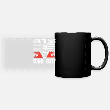Fire Fighter Here you can save your kitty kids firefighter thin - Panoramic Mug