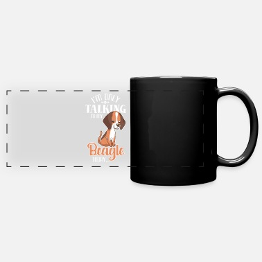 Nope Not Today Only Talking To My Beagle Today Dog Pet - Panoramic Mug