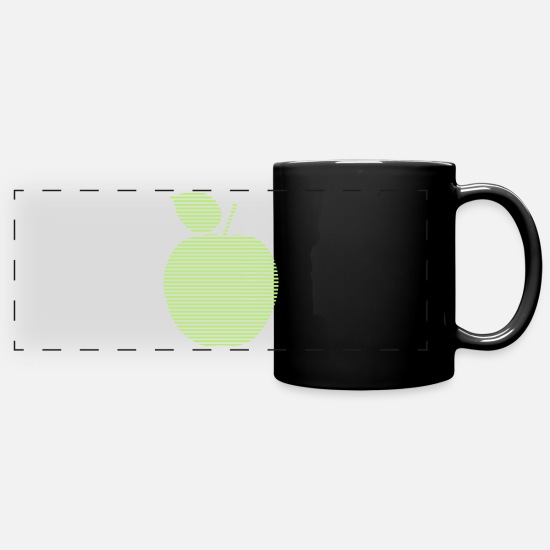 Birthday Mugs & Drinkware - Apple - Panoramic Mug black