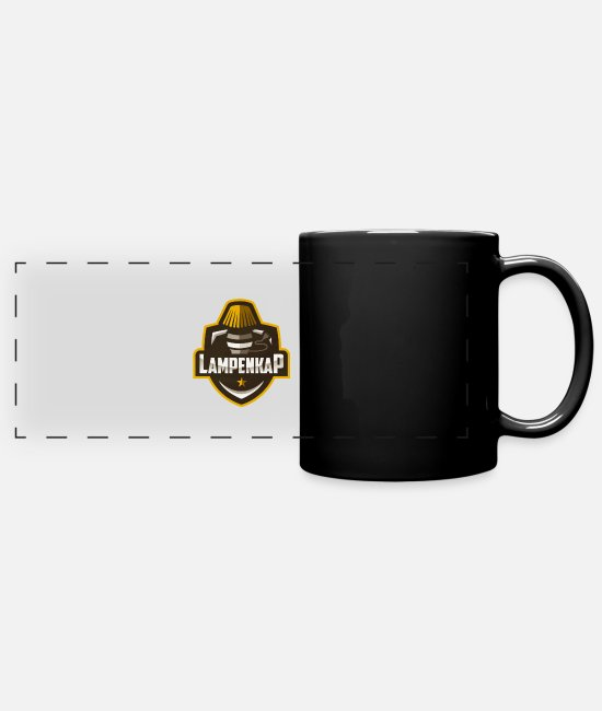 Twitch Mugs & Drinkware - lampshade Logo - Panoramic Mug black
