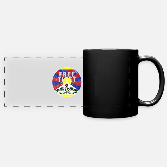 Gift Idea Mugs & Drinkware - Free Tibet China oppression protest - Panoramic Mug black
