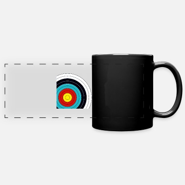 Target archery cutting - Panoramic Mug