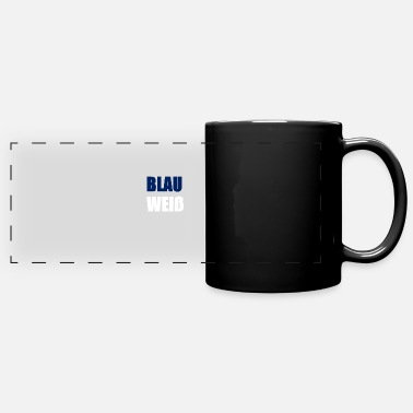 Blue White blue White - Panoramic Mug