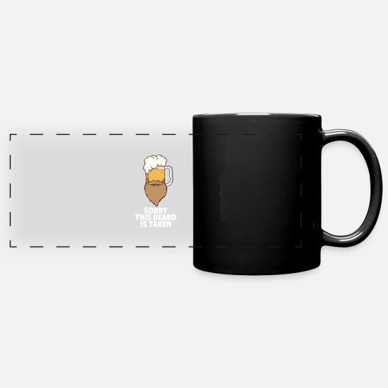 Birthday Mugs & Drinkware - Beard bearded bearded bearer hipster beard gift - Panoramic Mug black