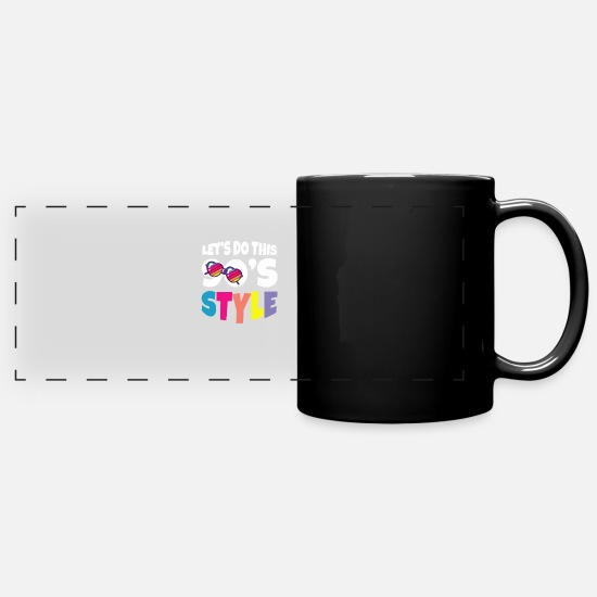 Carneval Mugs & Drinkware - 90s party outfit costume clothes cassette - Panoramic Mug black