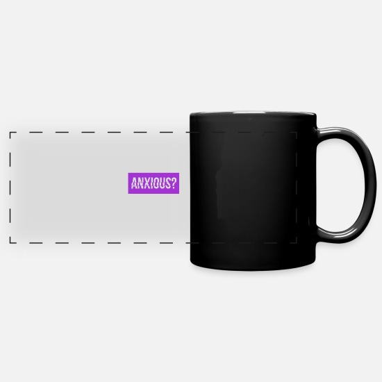 English Mugs & Drinkware - Anxious? Question english - Panoramic Mug black
