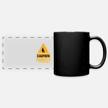 Geographic CAUTION Geographer In The Making - Panoramic Mug