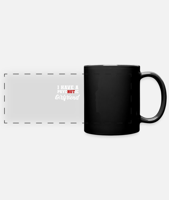Girlfriend Mugs & Drinkware - Couple of valentine couple - Panoramic Mug black