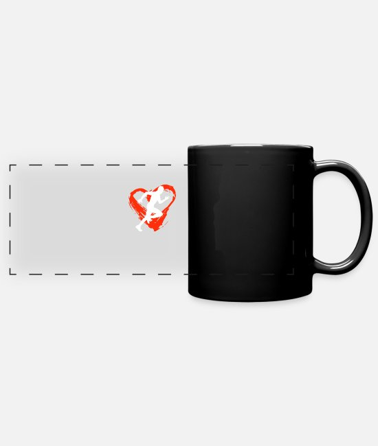 Hobby Cook Mugs & Drinkware - A Heart For Sprinting - Panoramic Mug black