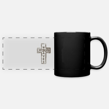 Jesus Saves Jesus - Jesus Saves - Panoramic Mug