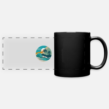 Bees Wolf Beach wave beach lover or tourist gift - Panoramic Mug
