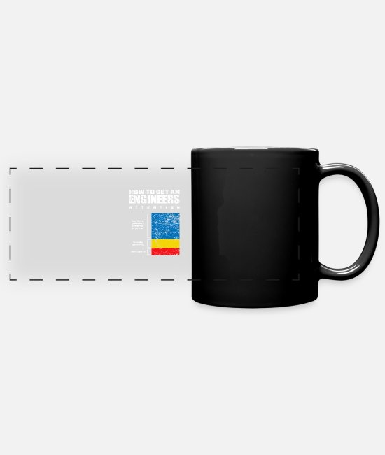 Aircraft Construction Mugs & Drinkware - Engineer technology - Panoramic Mug black