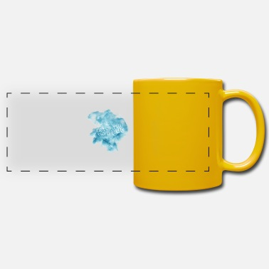 Blues Into the blue - into the blue - blue smoke - Panoramic Mug