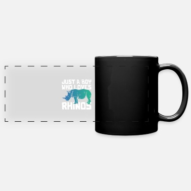 Pachyderm Rhinoceros young animals - Panoramic Mug
