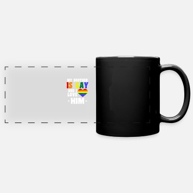 Father Gay Daddy Brother Gay I Love Him Gift - Panoramic Mug