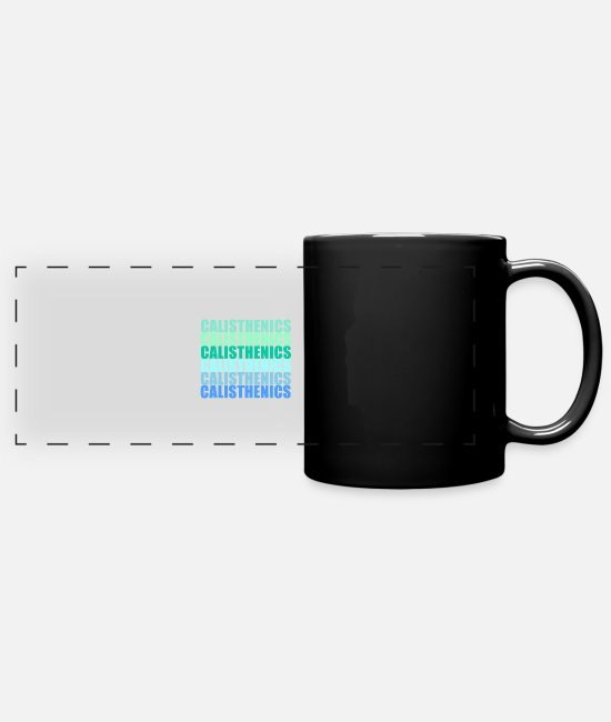 Sports Mugs & Drinkware - Calisthenics - Panoramic Mug black