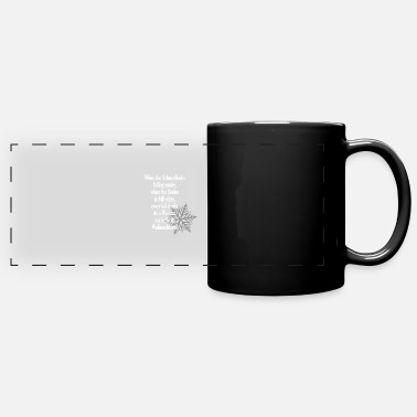 When the snowflakes - winter poem Christmas - Panoramic Mug