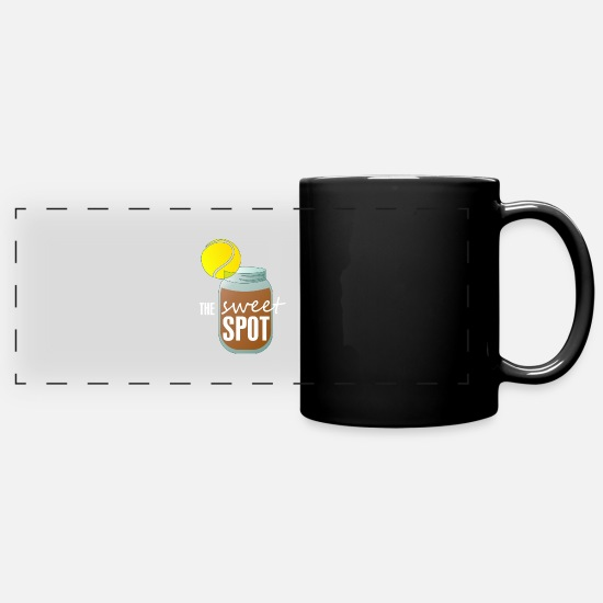 Tennis Match Mugs & Drinkware - Tennis ball saying drink Limmo match racket - Panoramic Mug black