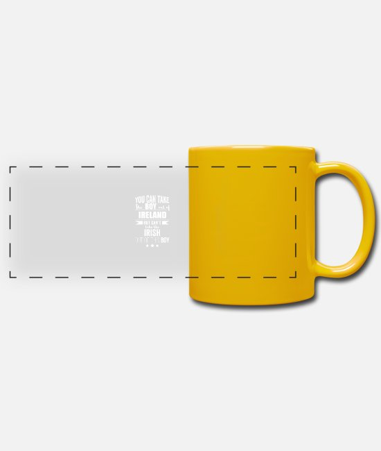 Usa Mugs & Drinkware - Can take boy out of Ireland but Can't take the - Panoramic Mug sun yellow