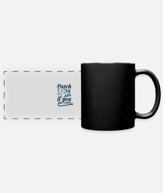 Jaws Mugs & Drinkware - Catch me - Panoramic Mug black