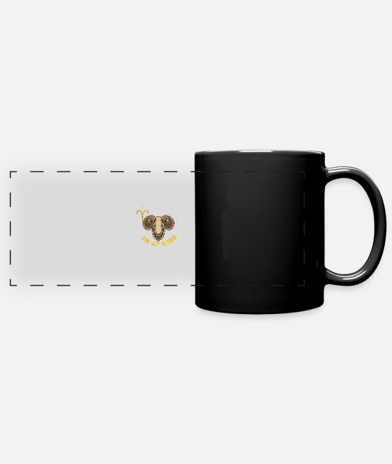 Hipster Mugs & Drinkware - Zodiac Sign - I'm An Aries - Party - Panoramic Mug black