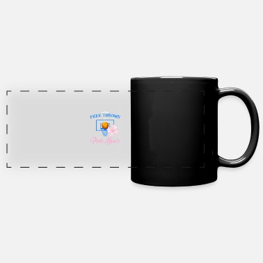 Free Throw Free Throws Pink Bows - Panoramic Mug