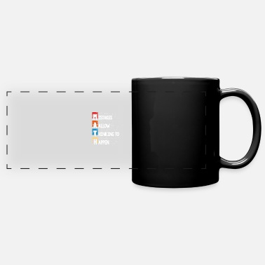 Atom Mistakes allow thinking to happen - Panoramic Mug
