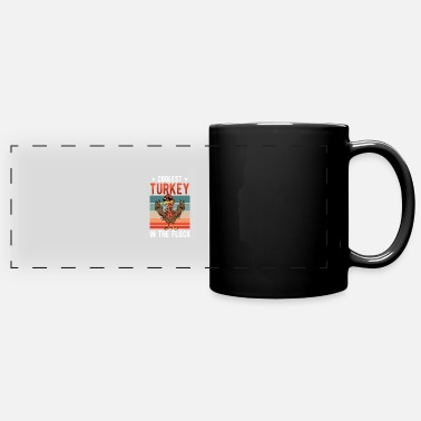 American Indian Thanksgiving Coolest Turkey In The Flock Retro - Panoramic Mug