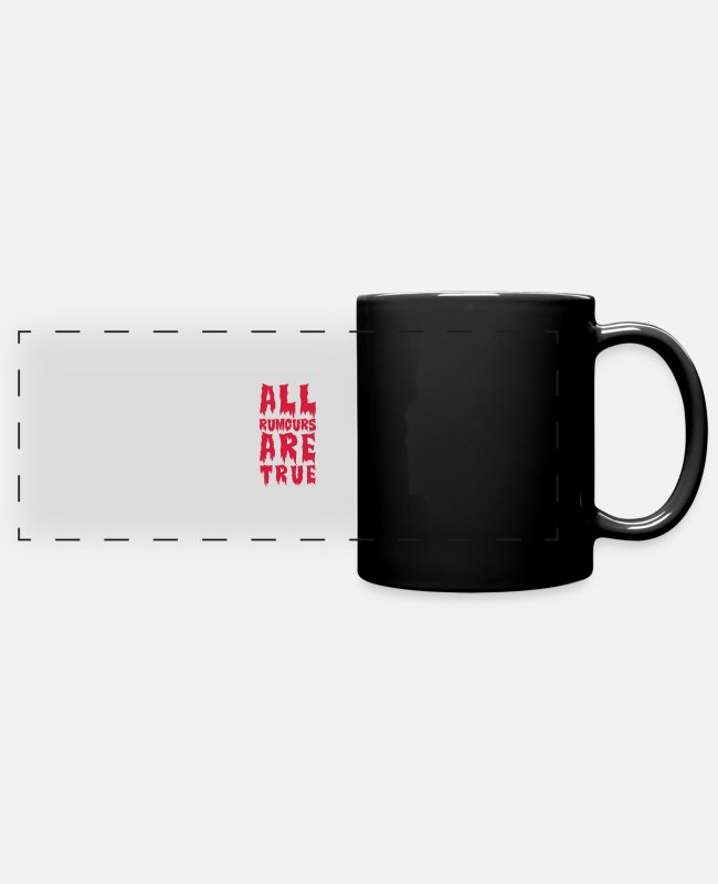Drugs Mugs & Drinkware - all rumours are true - Panoramic Mug black