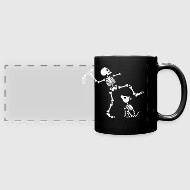 Go fetch bone dog skeleton arm hand - Taza panorámica de colores